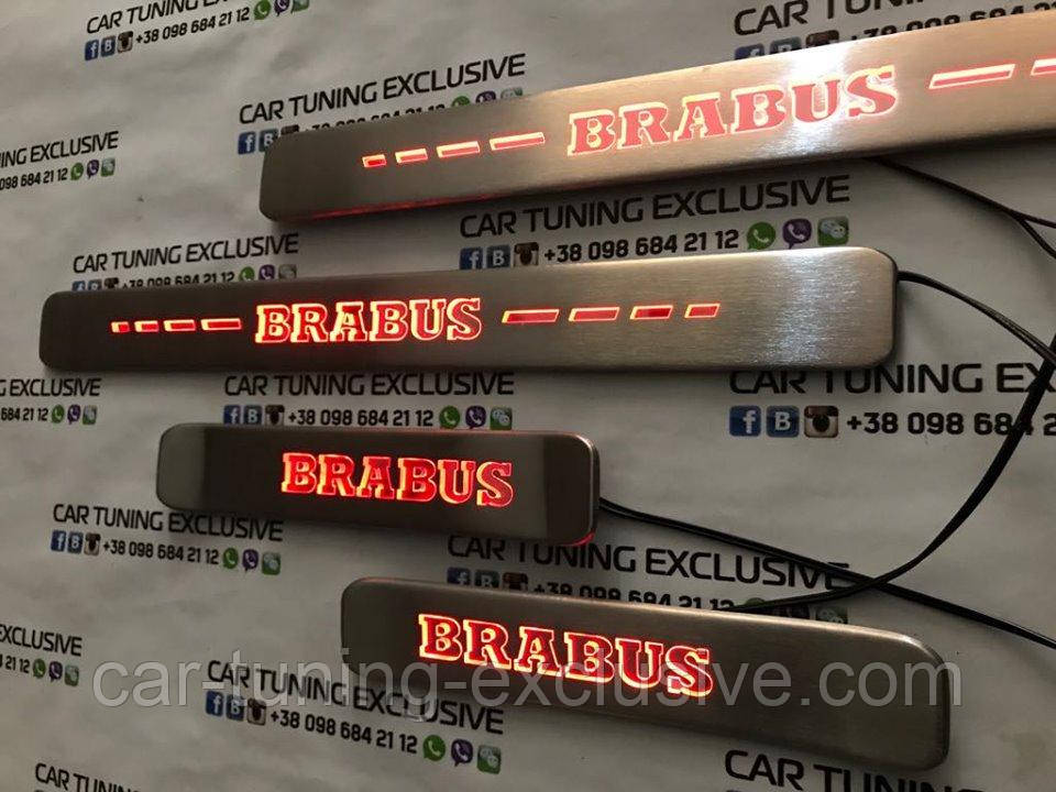 BRABUS entrance panels with new LED for Mercedes G-class