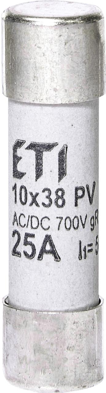 Предохранитель ETI CH 10x38 gR PV 25A 700V AC/DC 50/8kA 2625025 (для фотоэлектрических систем PV)