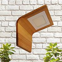 Настенный светильник, светильник с натурального дерева, светильник led 6W, LED панель, квадрат