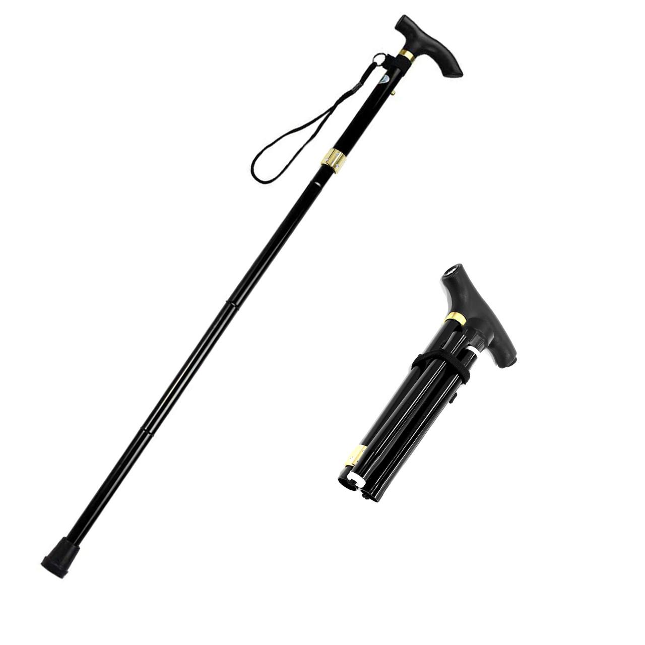 Треккинговая складная трость Lightweght 1 Legs 28579 с фонариком телескопическая для пожилых людей