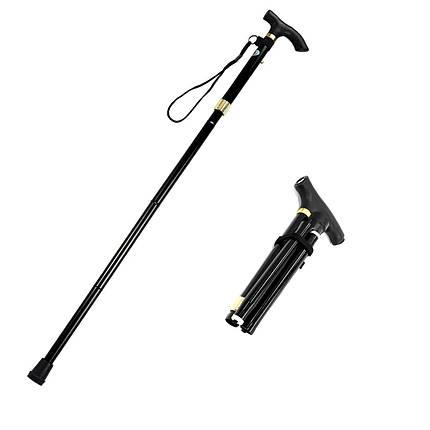 Треккинговая складная трость Lightweght 1 Legs 28579 с фонариком телескопическая для пожилых людей, фото 2