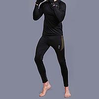 Термобелье ESDY A152 XL Black мужское спортивное теплое нижнее белье стрейч ветрозащитное флисовое, фото 7