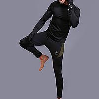 Термобелье ESDY A152 XL Black мужское спортивное теплое нижнее белье стрейч ветрозащитное флисовое, фото 8