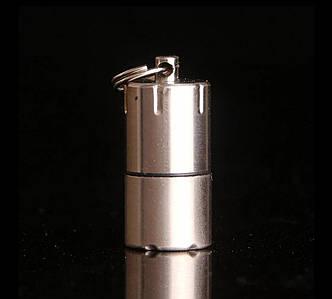 DOLPHIN Зажигалка-брелок компактная мини бензиновая зажигалка Серебряная