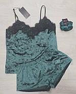 Домашний велюровый комплект майка и шортики, фото 2
