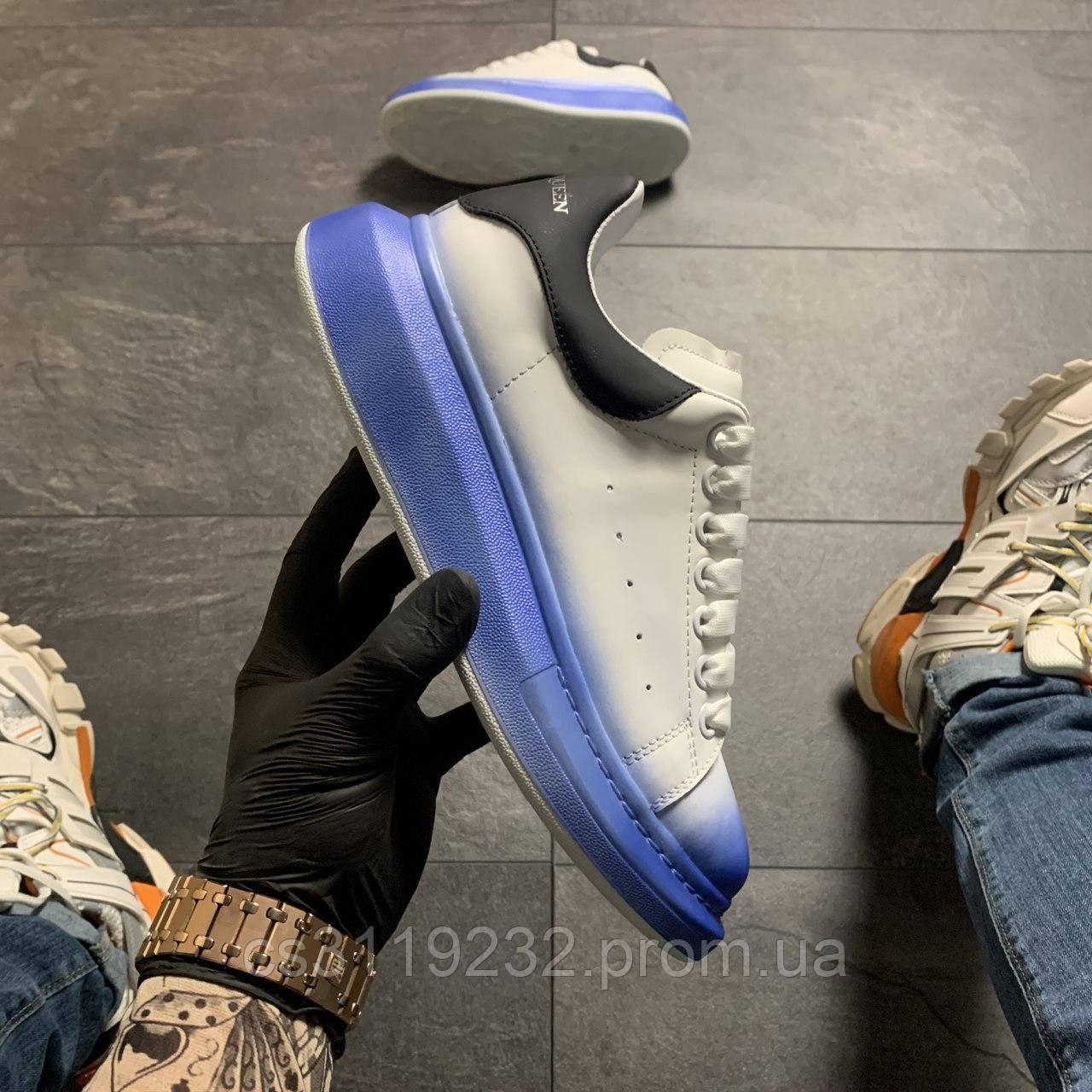 Женские кроссовки White Blue Black (бело-голубые)