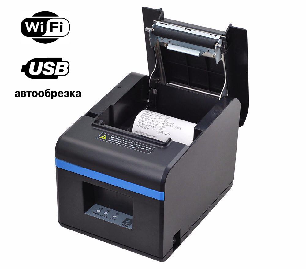 ✅ Xprinter XP-N160II Wi-Fi + USB Принтер чеков 80 мм с автообрезкой