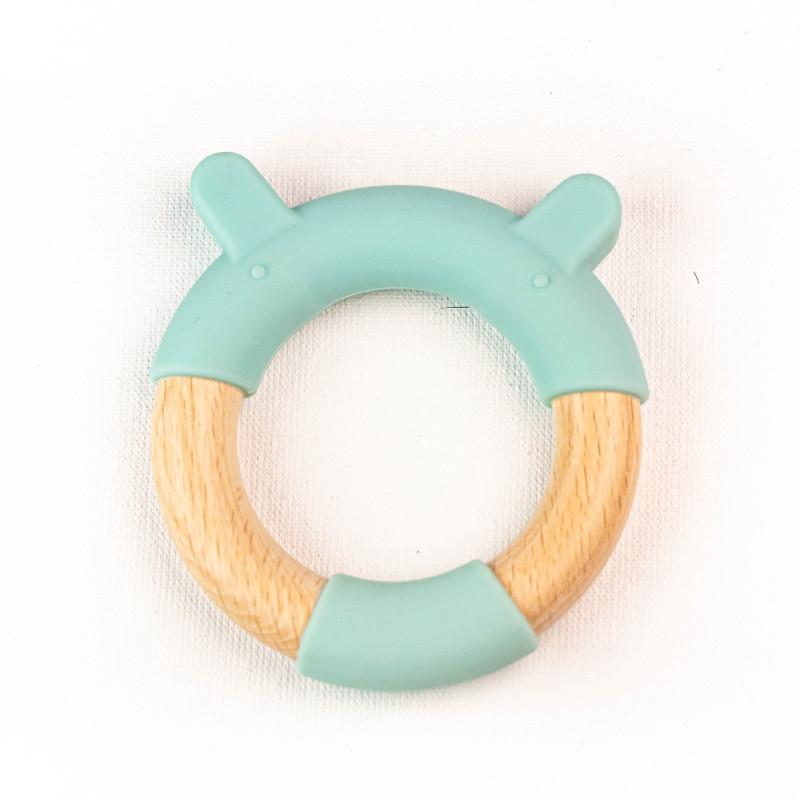 Прорезыватель-кольцо для зубов SLINGOPARK «Мишка»