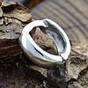 Мужская серебряная серьга Одинарная размер 11х3 мм вес 1.14 г, фото 2