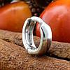 Мужская серебряная серьга Одинарная размер 11х3 мм вес 1.14 г, фото 3