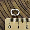 Мужская серебряная серьга Одинарная размер 11х3 мм вес 1.14 г, фото 4