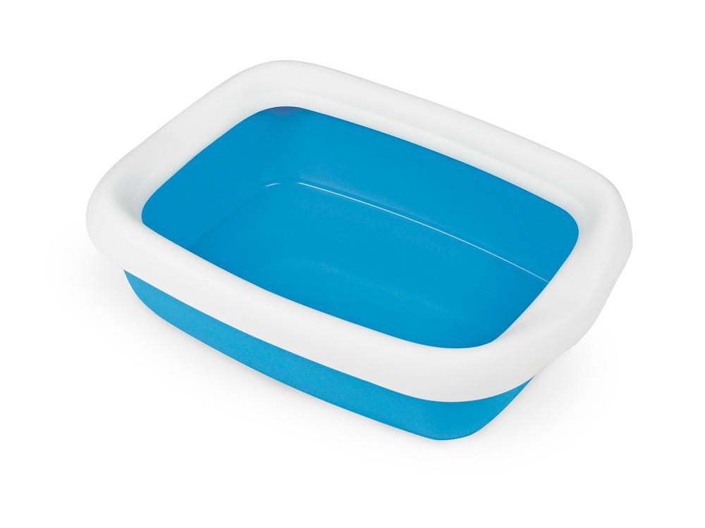 Туалет для кошек с рамкой BETA BLUE 43*31*12 см