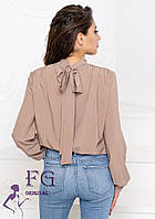 Стильна блуза з бантом на спині 010В/04, фото 1