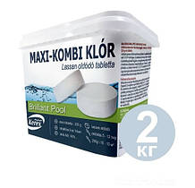 Таблетки Хлор 3в1 Kerex 80003, 2 кг для бассейна