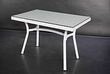 Стол Глэм (100х60х75)см ротанг + тонированное стекло 6мм, фото 3