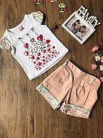 Комплект на девочку летний шортики + футболка 98 см. Турция!!!