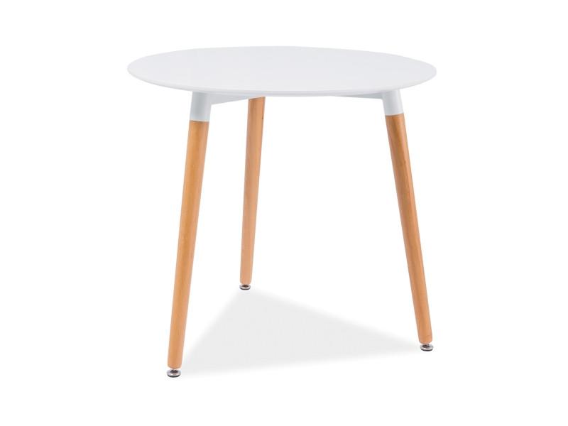 Белый круглый стол Nolan III (Signal)
