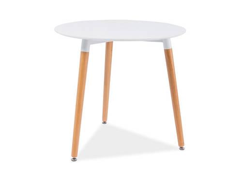 Белый круглый стол Nolan III