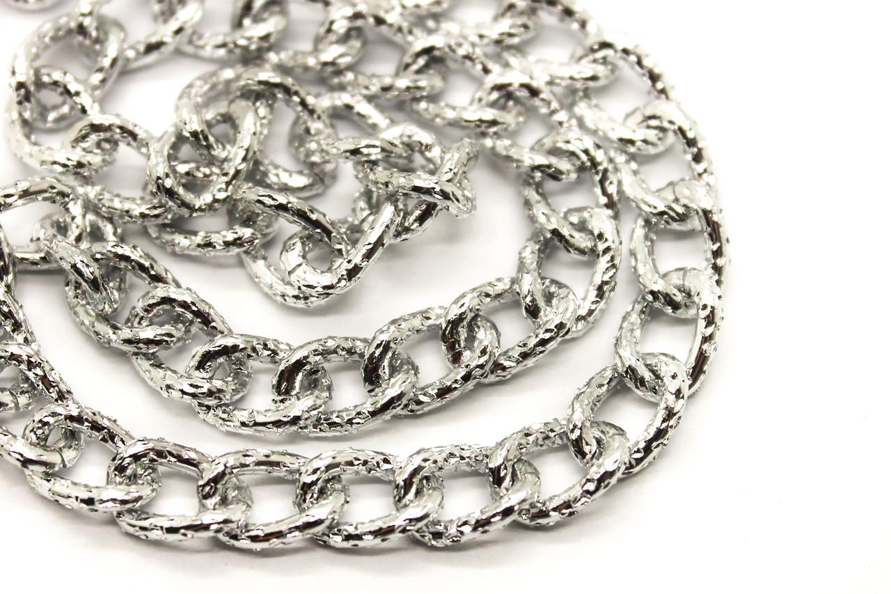 Цепь серебро 9х6мм. Цена за 1 метр.