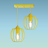 """Подвесной металлический светильник, современный стиль """"BARREL-2Е"""" Е27  желтый цвет"""
