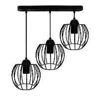 """Подвесной металлический светильник, современный стиль """"BARREL-3"""" Е27  черный цвет"""
