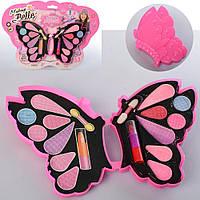 Косметика 57I-01-B857A (144шт) бабочка, тени, помада, 2 вида, на листе, 30-27,5-1,5см