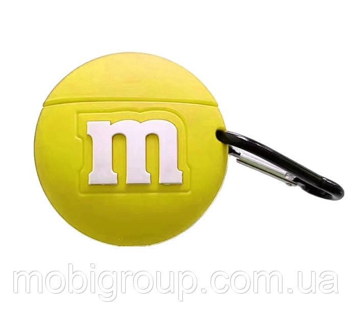 Чехол силиконовый для Apple AirPods Pro M&M`s, Желтый
