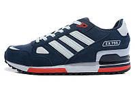 Кроссовки мужские Adidas ZX 750, кроссовки адидас zx 750 для бега синие (Оригинал)