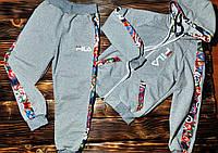 Детский спортиный костюм FILA серый, фото 1