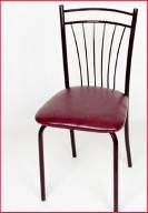 Бордовый каркас и бордовый материал оббивки сидения