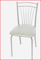 Серебристый каркас и серый материал оббивки сидения