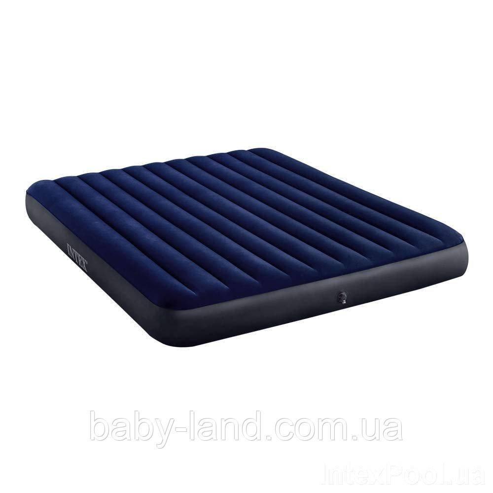 Матрас-кровать велюровый надувной Intex 64755