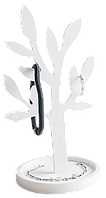 """Держатель для украшений """"Дерево"""", каменный Solid surface 100*100*195мм"""