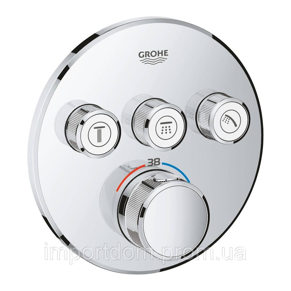 SmartControl Термостат для душу/ванни з 3 кнопками, накладна панель