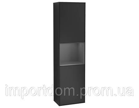 FINION шкаф-пенал 41,8*151,6*27см подвесной, петли слева, с функцией Emotion, LED-подсветка, цвет - матовый