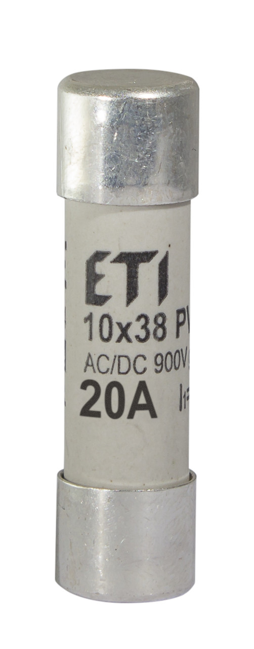 Предохранитель ETI CH 10x38 gR PV 20A 900V AC/DC 50/8kA 2625034 (для фотоэлектрических систем PV)