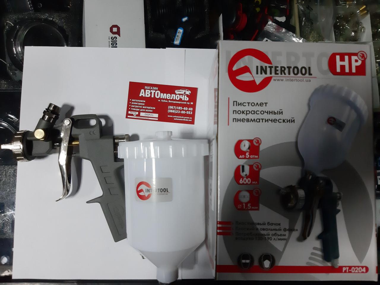 Пистолет лакокрасочный пневматический (Пуливизатор) пр-во Intertool