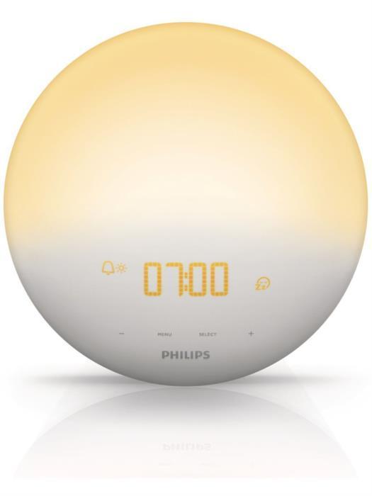 Настільний годинник з будильником Philips HF3520 (Б/У)