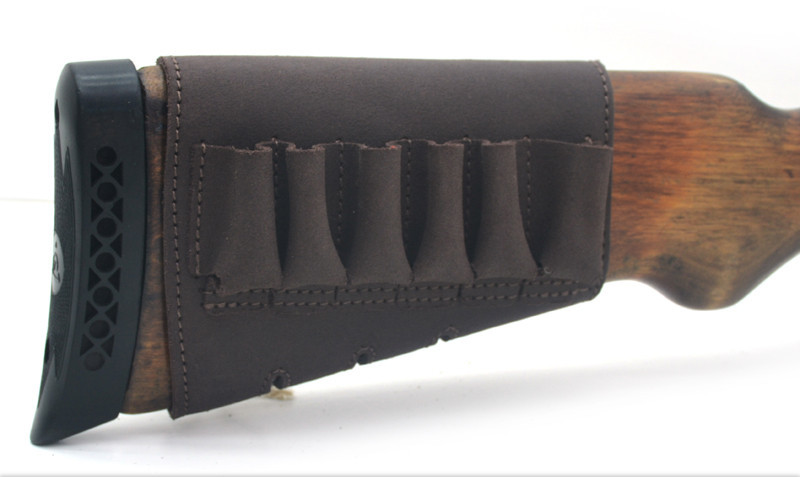 Чехол на приклад на липучке кожа Ретро коричневый 10201/2