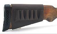 Чехол на приклад на липучке кожа Ретро коричневый 10201/2, фото 1