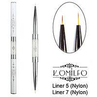 Komilfo Пензель Double Liner 5 (Nylon)/Liner 7 (Nylon)