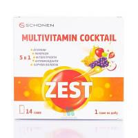 Зест Мультивитаминный Коктейль - cмузи-коктейль для заряда энергии и нормализации обмена веществ (14пор.,Итали
