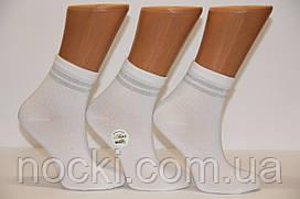 Женские носки средние с бамбука в рубчик с люрексовой полоской ZG