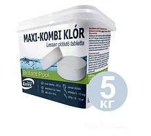 Таблетки 3в1 Хлор 5 кг Kerex 80004 для бассейна (медленно растворимые)