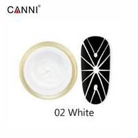 Canni 3D Embossing gel Гель-павутинка №2 (білий), 8 мл