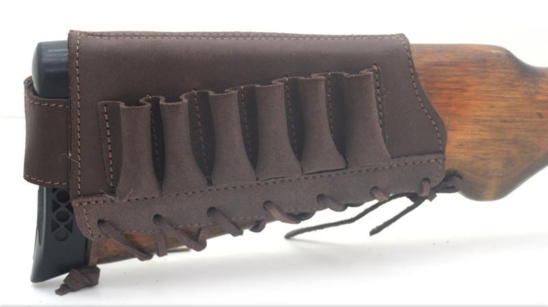 Чехол на приклад кожа Ретро коричневый 10200/2