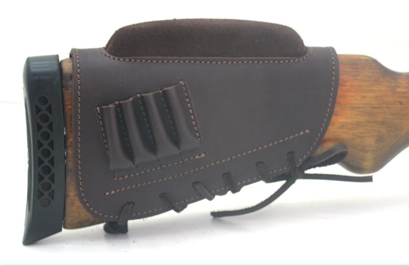 Чехол на приклад с повышением нарезные кожа гидрофобная коричневый 50150/2