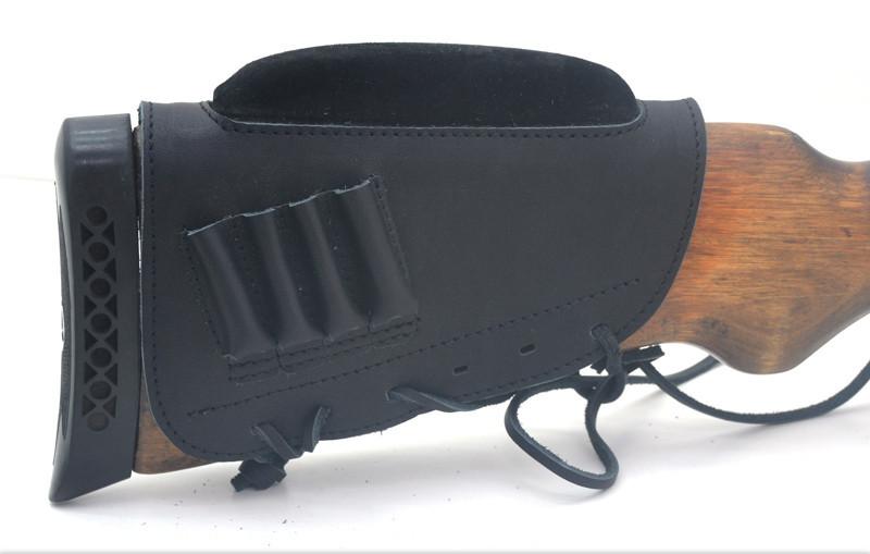 Чехол на приклад с повышением нарезные кожа гидрофобная черный 50150/1