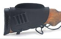 Чехол на приклад с повышением нарезные кожа гидрофобная черный 50150/1, фото 1