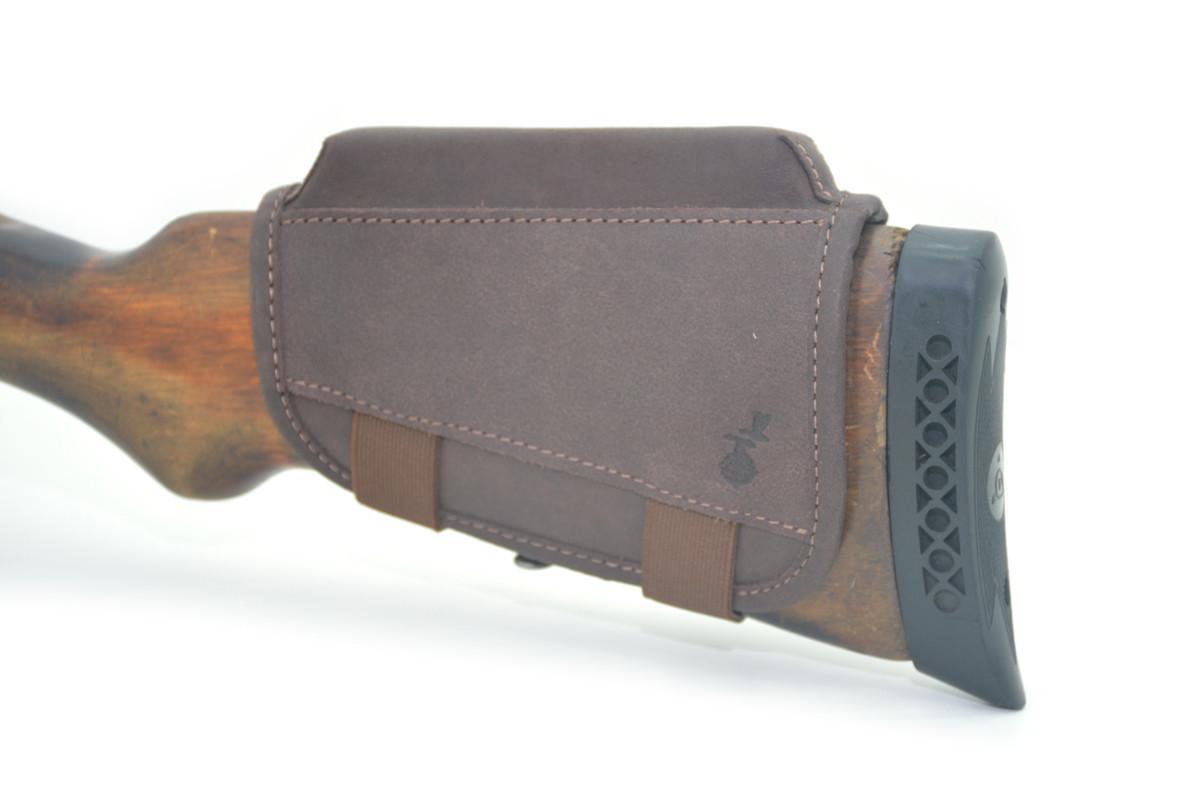 Чехол на приклад Ретро с повышением 2 см кожа коричневый 10220/2